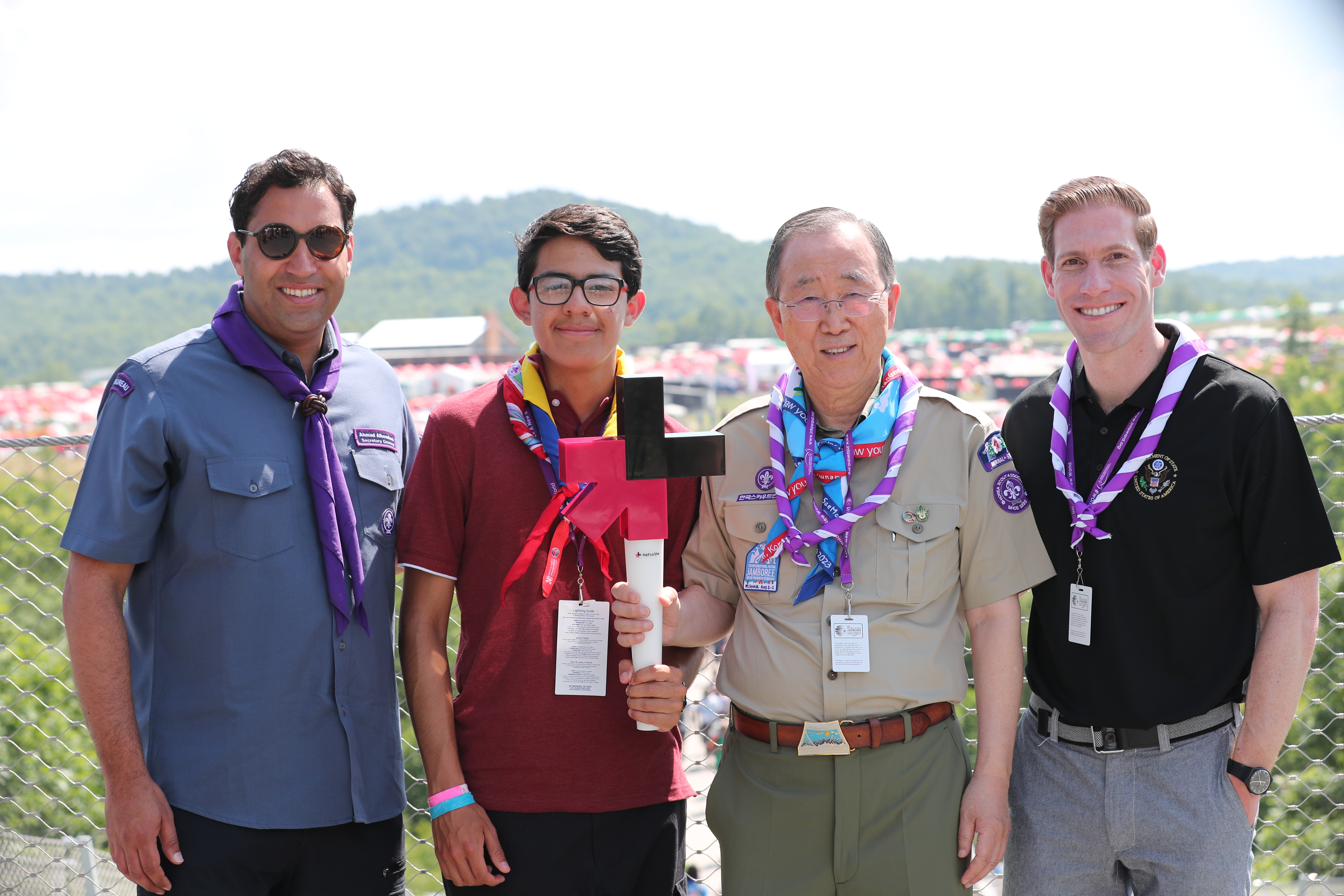 Ahmad Alhendawi heforshe at the world scout jamboree, youth leading the way
